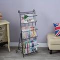 Metal magazine rack books floor steel shelf stereo creative promotional display shelf