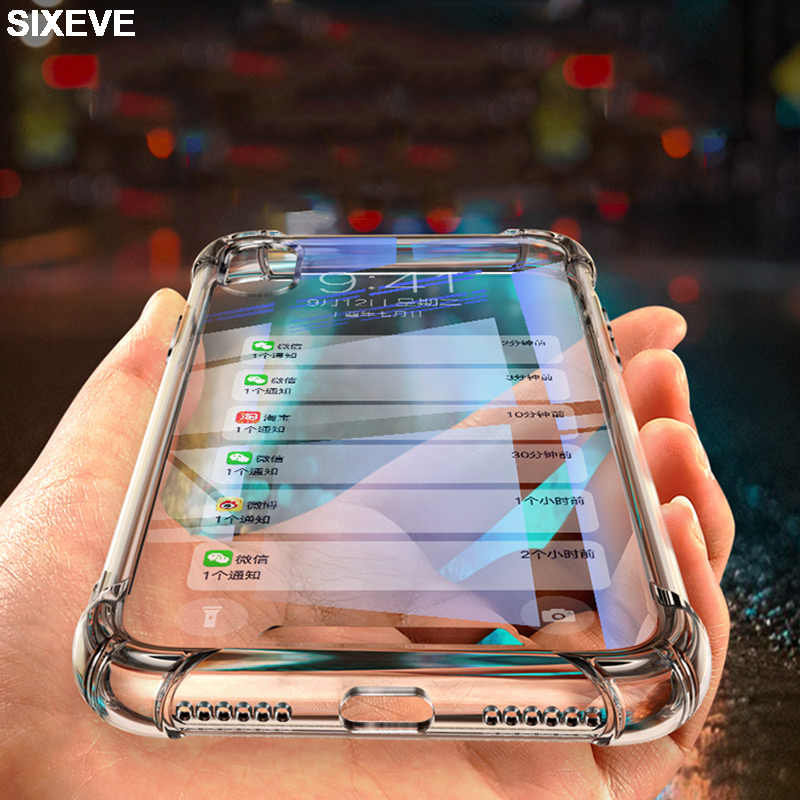 Drop proof Silicon Clear Case Voor iPhone 6 s 6S 7 7S iPhone 8 Plus X 10 iPhone 6Plus 6SPlus 7Plus 8 Plus Mobiele Telefoon Mobiele Cover