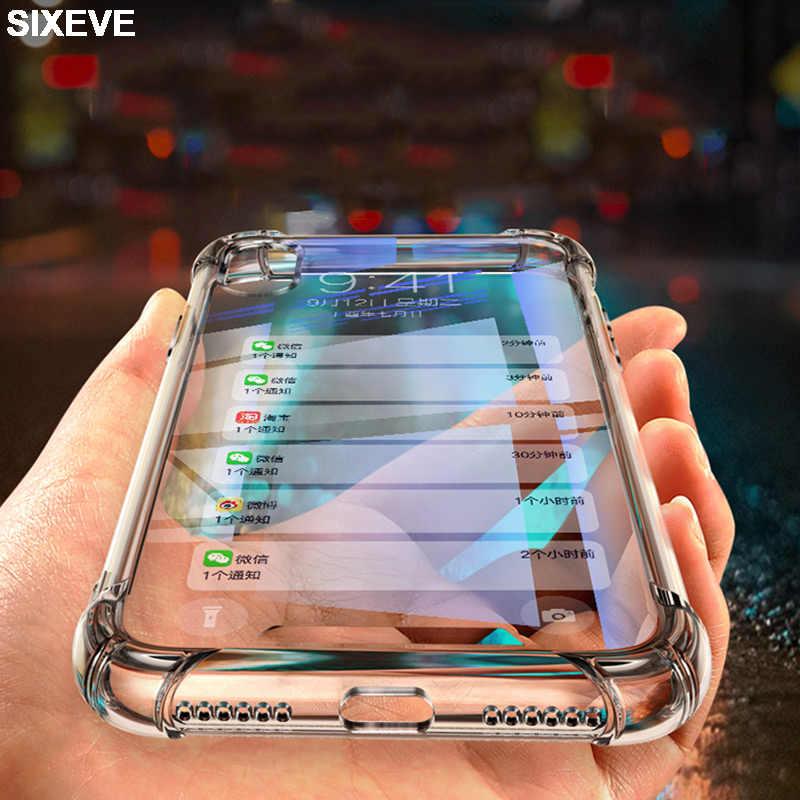 Защитный силиконовый прозрачный чехол для iPhone 6 s 6S 7 7S iPhone 8 Plus X 10 iPhone 6Plus 6splus 7plus 8plus Чехол для мобильного телефона