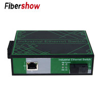 2 port Ethernet 1 fiber Industrial Ethernet Network Switch 10/100/1000M Signal Strengthen DIN Rail Type