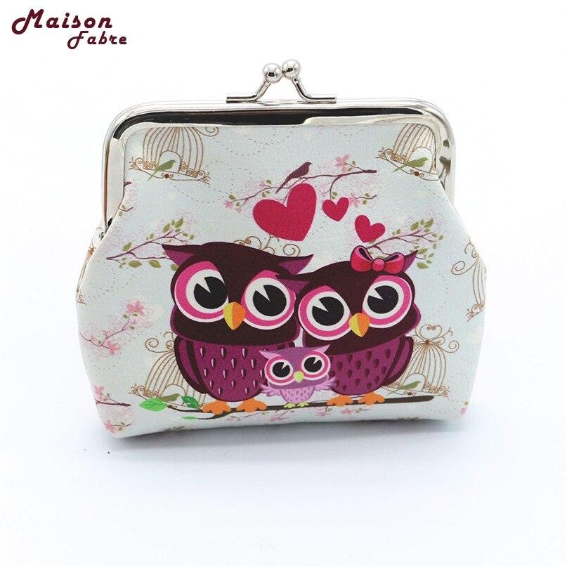 Hot women Retro Vintage Owl Small Wallet Hasp Purse Clutch Bag drop shipping 080719%