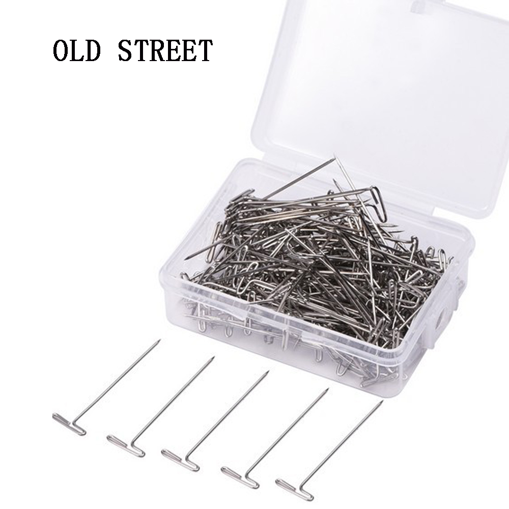 50 Pieces Wig T Pins for Holding Wigs Silver 32mm Long T-pins Styling Tools For Wig Display OLD STREET цена