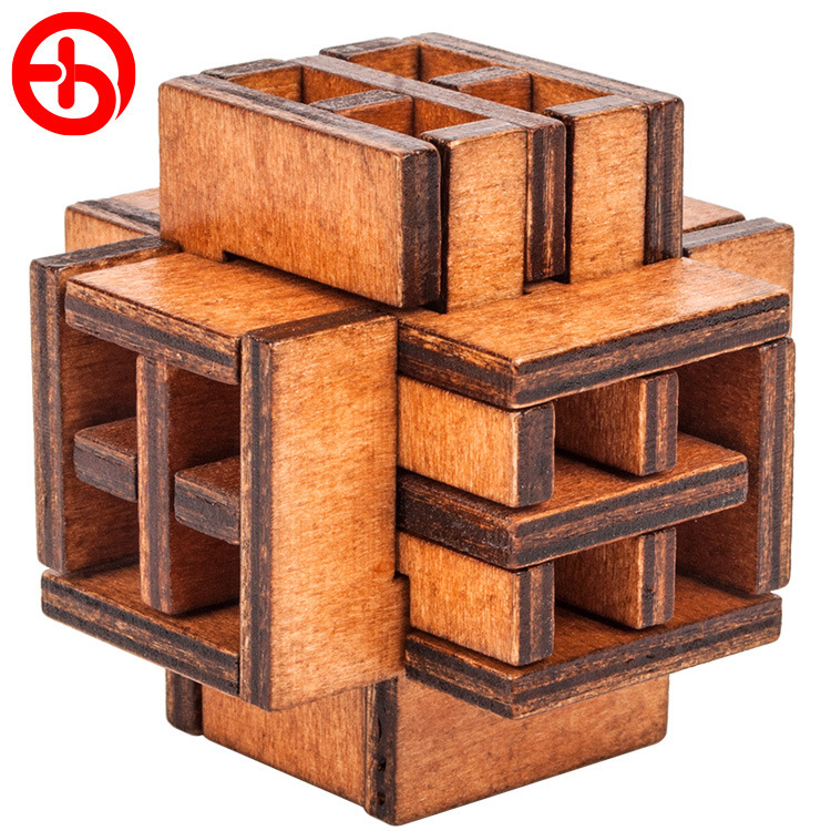 3D Window Russia Ming Luban Educational Toy Educational Wood Puzzles for Adults Kids Brain Teaser Children Birthday Gift Hot ...