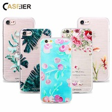CASEIER Phone Case For iPhone 6 6s Plus Soft TPU Ultra-thin Hollow Pattern Cover 5 5s SE Relief Silicone phone Shell