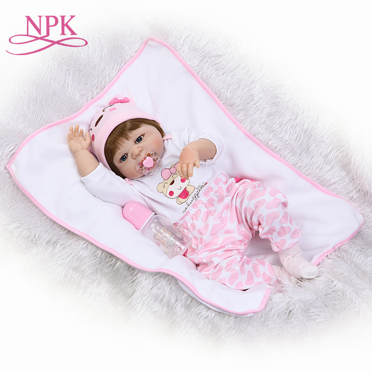 56CM NPK reborn doll with soft real gentle touch hotsell new deign full vinyl body doll