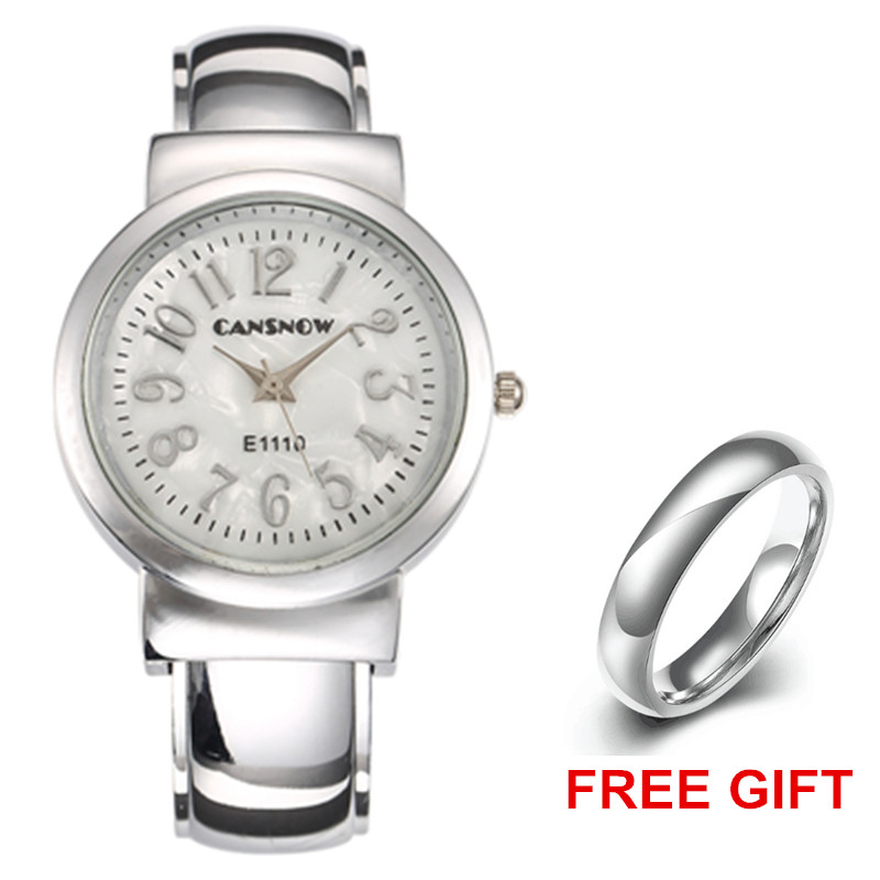 цена на Luxury Silver Watches Women Bracelet Watches Top Brand Stainless Steel Ceasuri Quartz-Watch Ladies Wristwatches relogio feminino