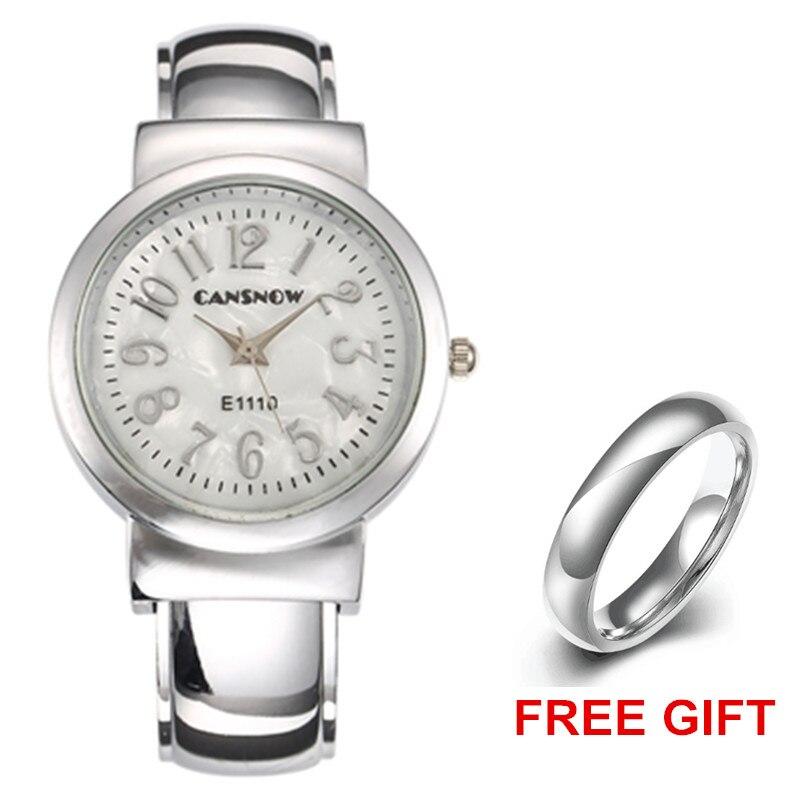 Luxury Silver Watches Women Bracelet