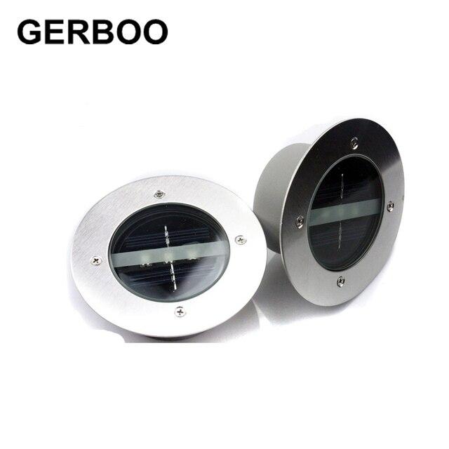 Outdoor Lighting Solar Powered Panel LED Floor Lamps Deck Light 3 ...