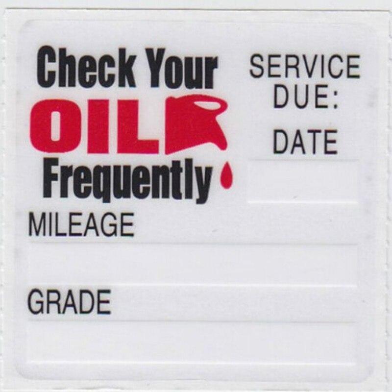 50pcs Transparent Oil Change Service Friendly Electrostatic Sticker Reminder Stickers Special Design Small Size