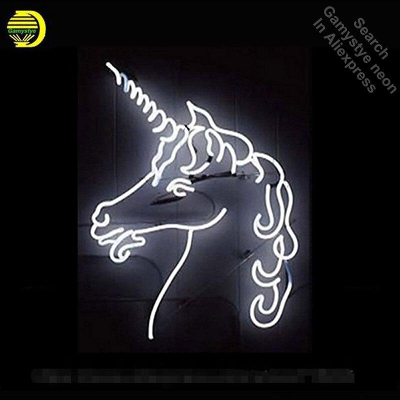 Nouveau cheval néon enseigne néon ampoule signe réel verre Tube blanc néon lumières loisirs emblématique signe magasin affichage publicité personnalisée