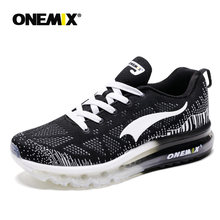 ONEMIX Black Sport Shoes Men Running Shoes Breathable Mesh Man Walking Shoes Light zapatillas hombre Outdoor Athletic Shoes(China)