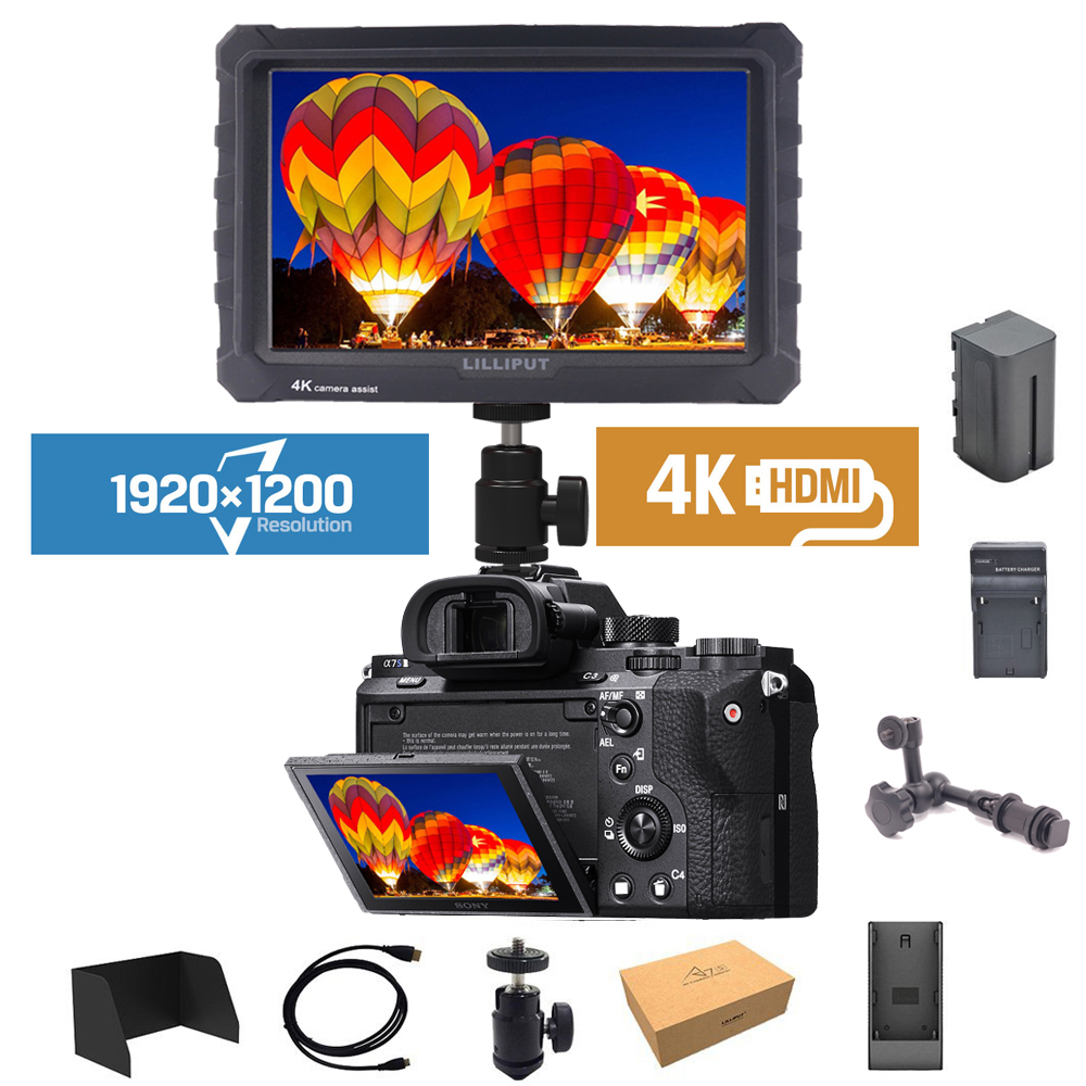 Lilliput A7S 4K Video Monitor 7 inch On Camera Field Monitor High Resolution IPS Full HD