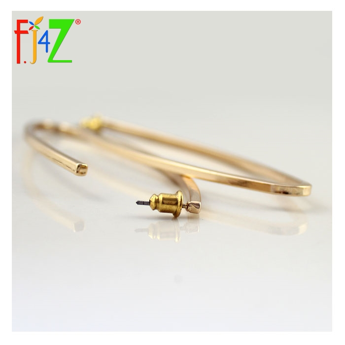 F. J4Z 2017 Mode Lange Ohrringe Für Frauen goldene Metall Oval Club - Modeschmuck - Foto 5