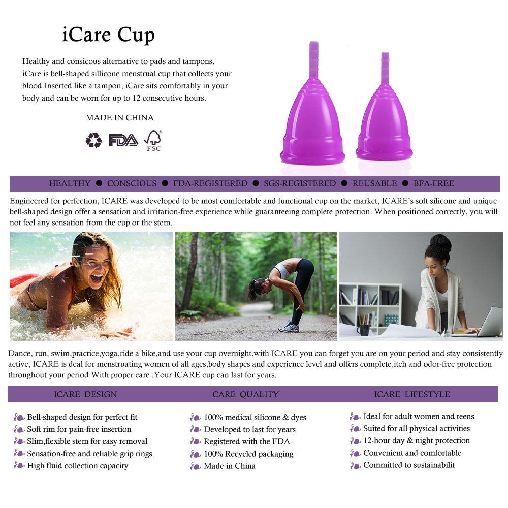 500 pcs Hot Wholesale Reusable Gred Medical silikon Piala haid - Penjagaan kesihatan - Foto 2