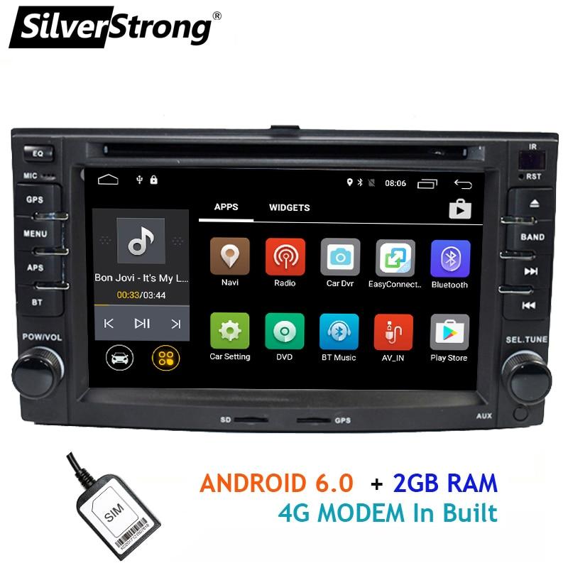 SilverStrong Android 2DIN 4g LTE modem DVD Dell'automobile per KIA Sportage 2007-2010 di Navigazione GPS 2Din Auto Radio sostegno del giocatore di TPMS
