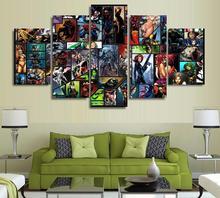 5 Panels Wall Art 5 Panels Wall Art Super Hero Marvel Spider Man Batman Art Wall Decor Paintings Canvas Unframed