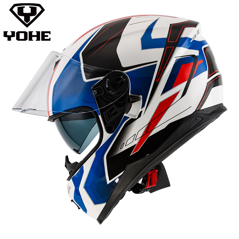 YOHE YH-FF-967 Helmet 2017 New cool casque moto helmet Unisex Motorcycle Helmet casco moto dual Visors ECE full face Helmet nobrand 967