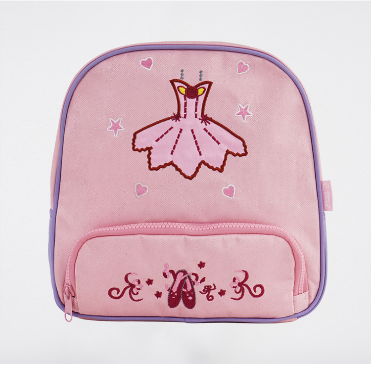 2-15Y Pink Ballet Backpack Bag Canvas Child Ballet Dance Bag Ballerina Bag Kids Dancer's Handbag For Girls Dancer's School Bags