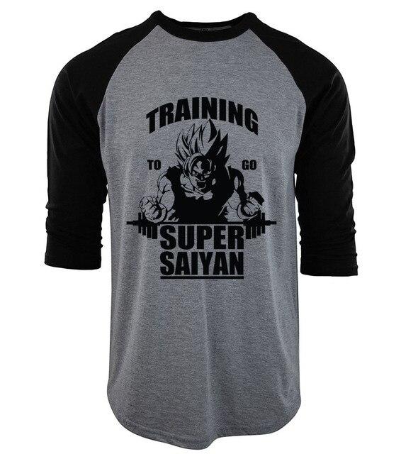 8ee8231c3fb62 Dragon Ball Super Saiyan poleras hombre hip-hop raglan men s T-shirts 2019  brand clothing cotton three-quarter sleeve camiseta