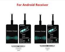 QI Receptor Carregador Sem Fio Universal Micro USB Adaptador de Carregamento Receptor para Xiaomi Huawei Android Phone Para iPhone 5 6 7 além de