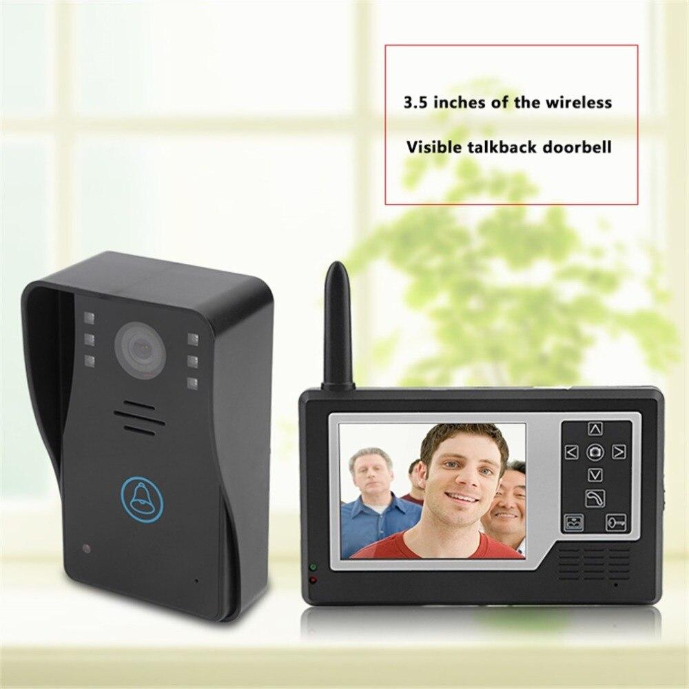 3,5 дюймов внутреннего блока Беспроводной Видимый видео телефон двери AC 100 240 В Мощность HD Камера 6/4LED свет домофон дверь