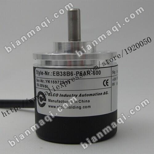 Spot EB38B6-P6AR-600 Elco rotary encoder 600 lines 6mm outer diameter of 38mm solid shaft spot r38t 10g05l1024bm rotary encoder 1024 pulses shaft diameter 10mm outer diameter 38mm