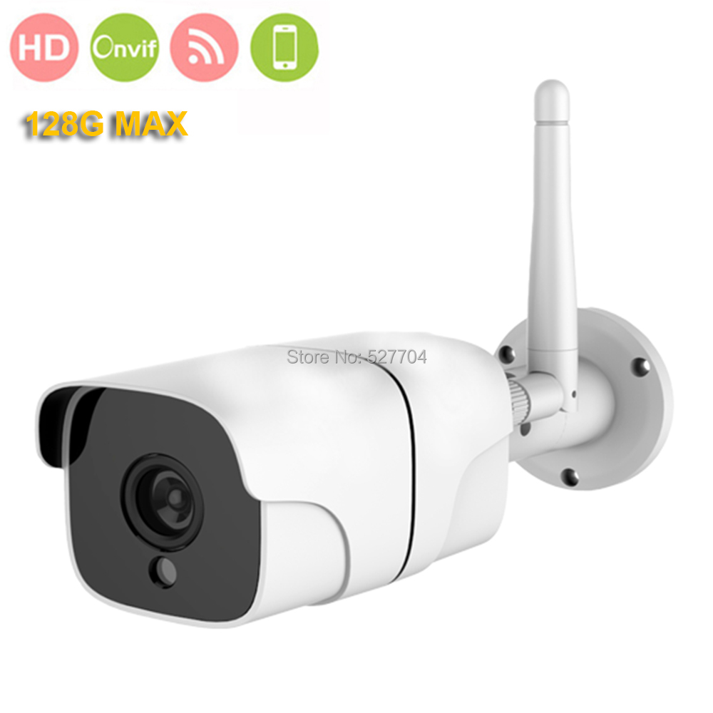 CCTV Security 2MP WIFI Wireless Bullet IP Camera HD 1080P H.264 H.265 ONVIF IR Waterproof Day Night W/ SD card Slot 128G MAX wistino 1080p 960p wifi bullet ip camera yoosee outdoor street waterproof cctv wireless network surverillance support onvif