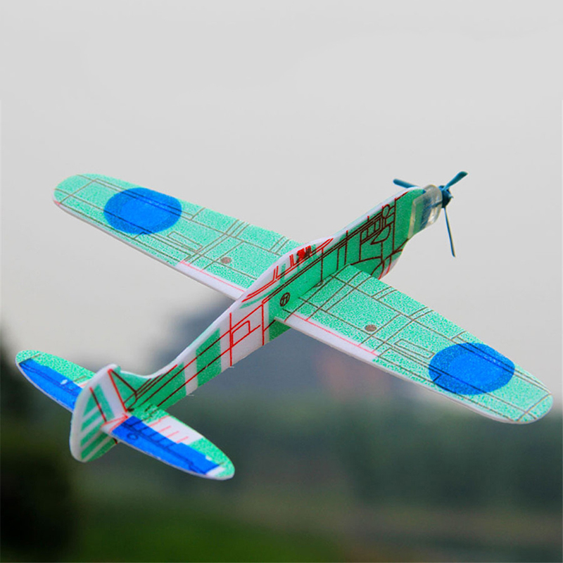 2018 Fashion 1PC Airplane Mini Drone Aircraft Model Toy Hand Throw Flying Glider Planes EPP Foam Kids Random Color image