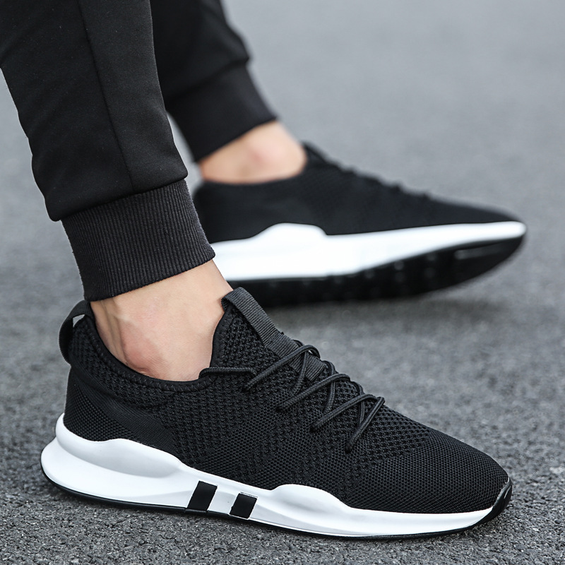 Hot brand Men shoes Lightweight sneakers Breathable Slip-on Casual Shoes For adult Fashion Footwear Hombre Black