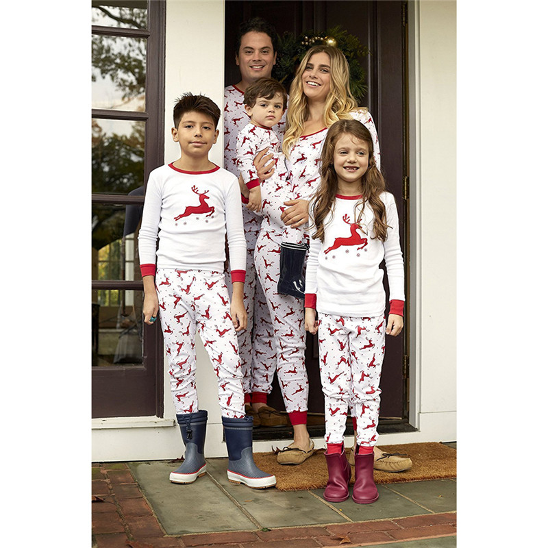 Emmababy Family Matching Christmas sleepwear clothes set 2018 Pajamas Set  Dad mom kids Baby Nightwear Family Matching Clothes-in Matching Family  Outfits ... 97d0a5853