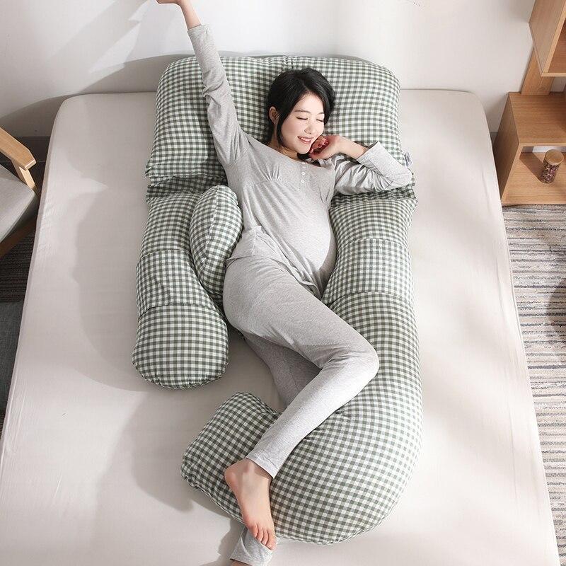 Grande U Pieno Supporto per Il Corpo della Donna Incinta di Sonno Del Cuscino Del Ventre Sagomato Gravidanza Cuscino Maternità Allattamento Al Seno di Cura Cuscino