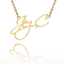 Personalized Name Necklaces Custom Necklace for Her Fashion Jewelery Stainless Steel Pendant Gold