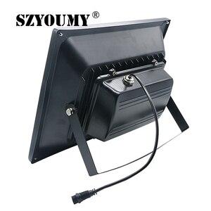 Image 4 - Szyoumy recém chegados led solar remoto luz de inundação 100 w led projector à prova dwaterproof água emergência rua jardim iluminação ip66