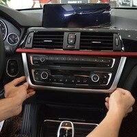 Chrome Dashboard Console Frame Cover Trim For BMW 3 Series F30 F31 F32 F34 F36 316 318 320 2013 2017 Car Accessories