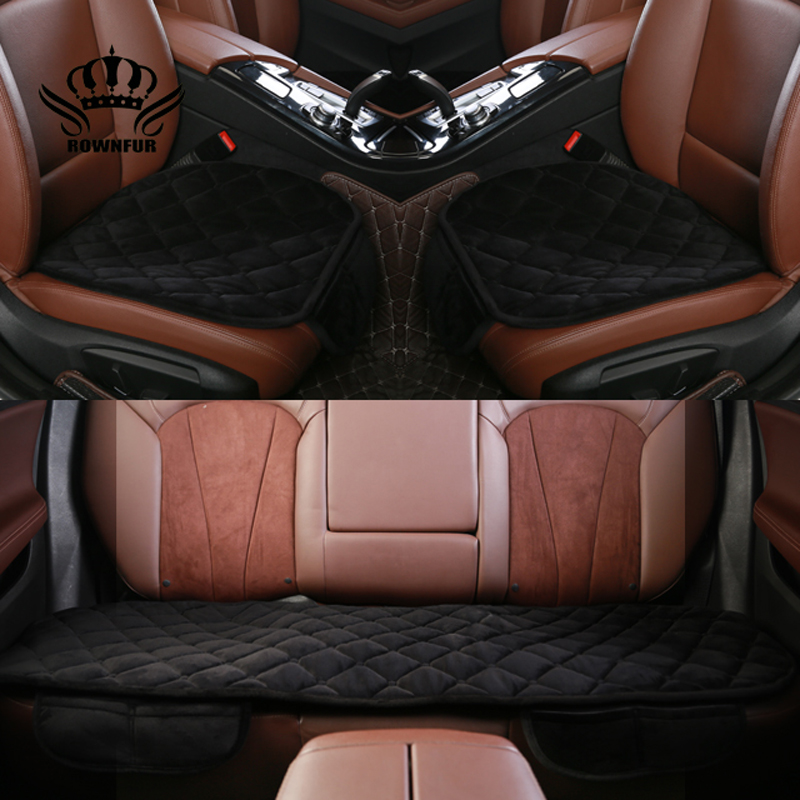 ROWNFUR Luxurious Warm Car Seat Covers Universal Size