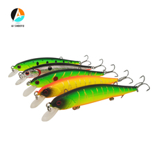 AI-SHOUYU New 1pcs 105mm 11g Hard Bait with 3 Treble Hook Minnow Fishing Lure Suspending Artificial Magallon Ball in Body