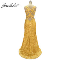 Real Photos Long Elegant Prom Dresses Sequins With Chiffon Fabric Withe Tulle Beading Hand Make Long