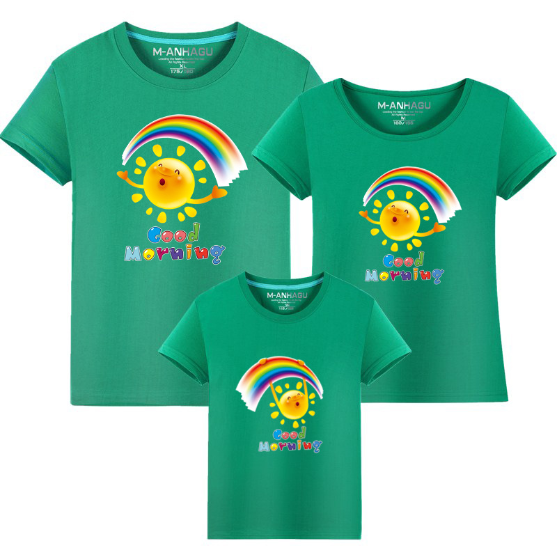 Summer Family Matching Outfits T shirt Mom Dad Son Daughter Rainbow T Shirts Family Mother Father Kids Matching outfits Tees (13)