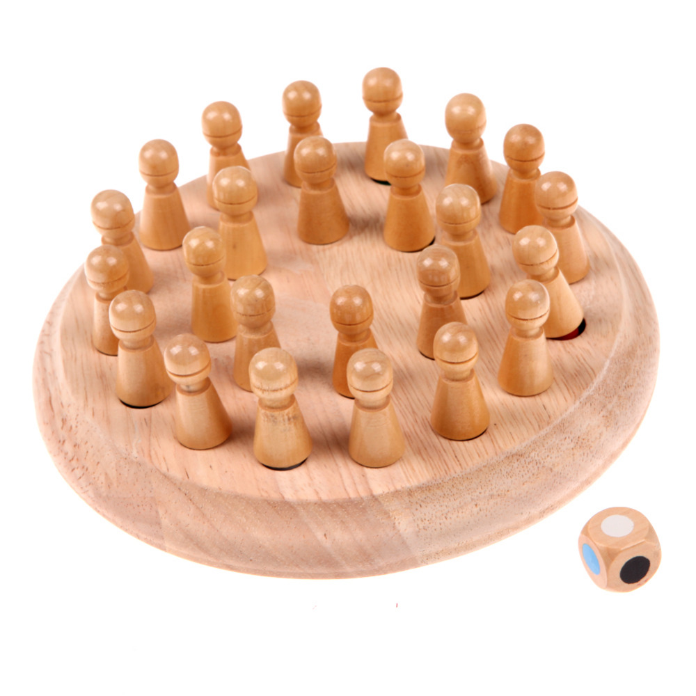 Kids Wooden Memory Match Stick Chess Game Children Early Educational 3D Puzzle Family Party Casual Game Puzzles memory match wood funny wooden stick chess game toy montessori educational block toys study birthday gift for kids 3d puzzle