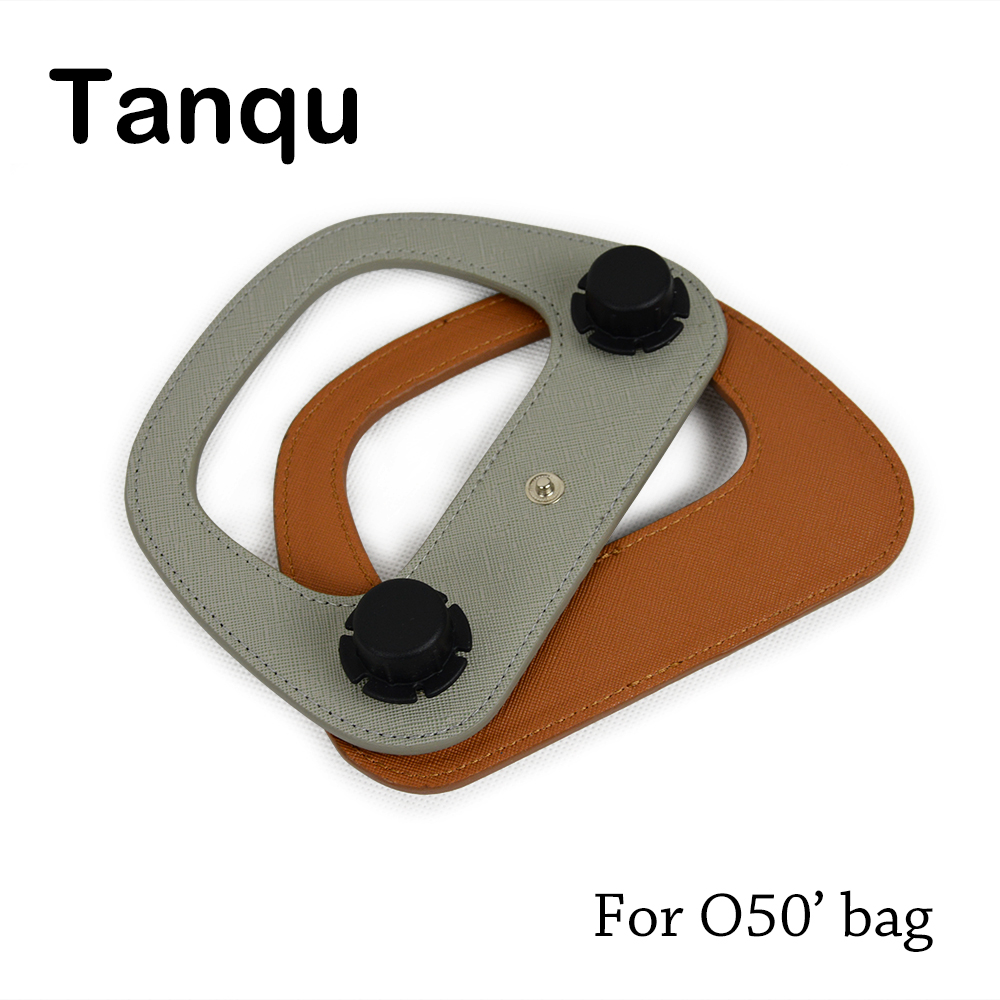 TANQU New Colorful Oblong Faux PU Leather Handle for Obag'50 Bag Body Oblong Handle for O Bag O50' Accessory