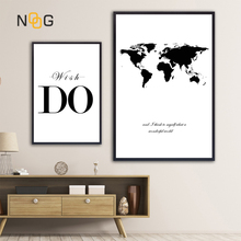 World Map Canvas Nordic Posters And Prints Wall Art Painting Black White Print Poster Decorative Pictures Living Room
