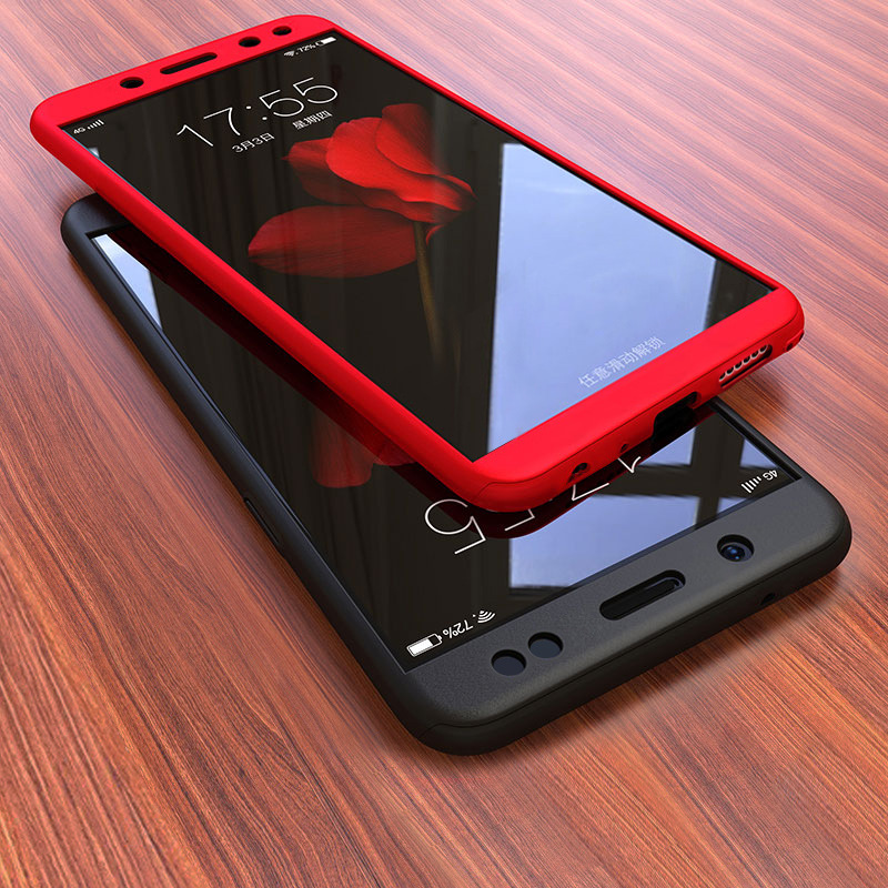 360 Full Cover For Vivo Y91 Y91i Y91C Y95 V9 Y81 Y81i Y71 Y71i Case Phone Back Cover Funda With Tempered Glass