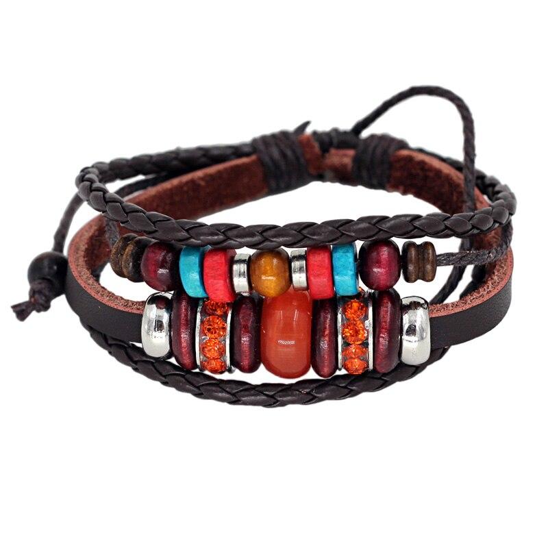 63c47df67902 Pulseras de cuero genuino pulsera de colores para mujer joyería de moda  femenina