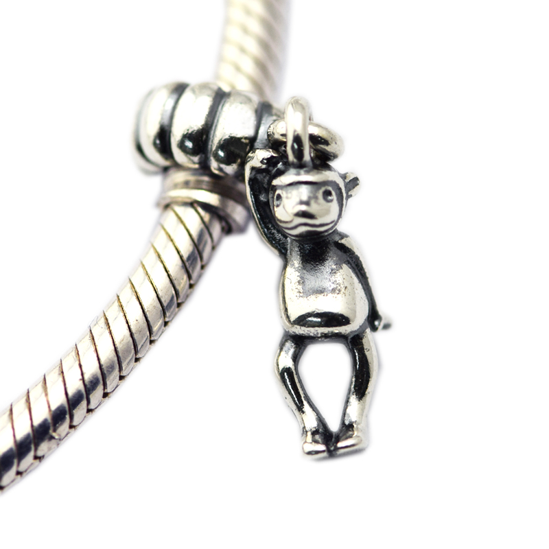 Fits for pandora Bracelets New Original 925 Sterling Silver jewlry Monkey threads Chamrs beads DIY making free shipping