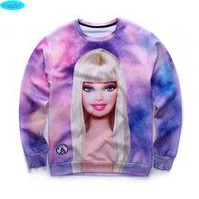 12-18years big kids brand sweatshirt boy youth fashion 3D beautiful cartoon printed hoodies jogger sportwear teens unisex W19