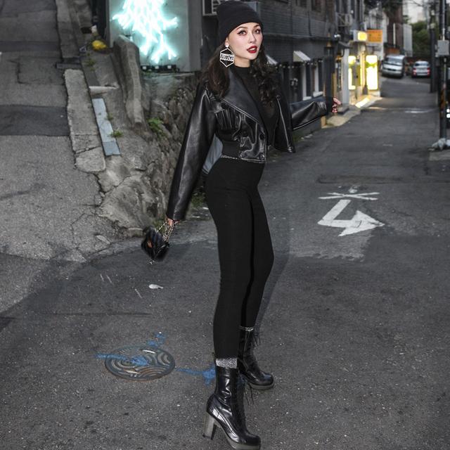 Women's High Waist Basic Leggings XS-L