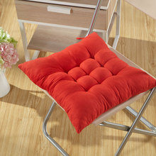 Winter Warm Chair Back Seat Cushion Mat Solid Color Office Buttocks Pad 38*38cm Sofa Waist Pillow For Home Decor