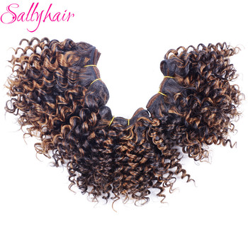 wignee 3 pcs lot spring curl crochet twist braids synthetic hair extensions for women high temperature kinky curly hair bundles Sallyhair Afro Kinky Curly High Temperature Synthetic Hair Weft Extensions Crochet Hair Weave Ombre Color 3pc/lot Hair Weavings