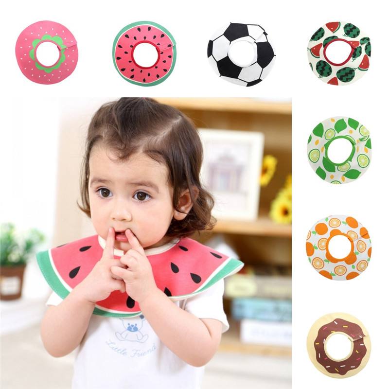 360 Degrees of Rotation Baby Bibs with Fruits Pattern Saliva Towel infant toddler Saliva Towel Aprons Baby Feeding Accessories