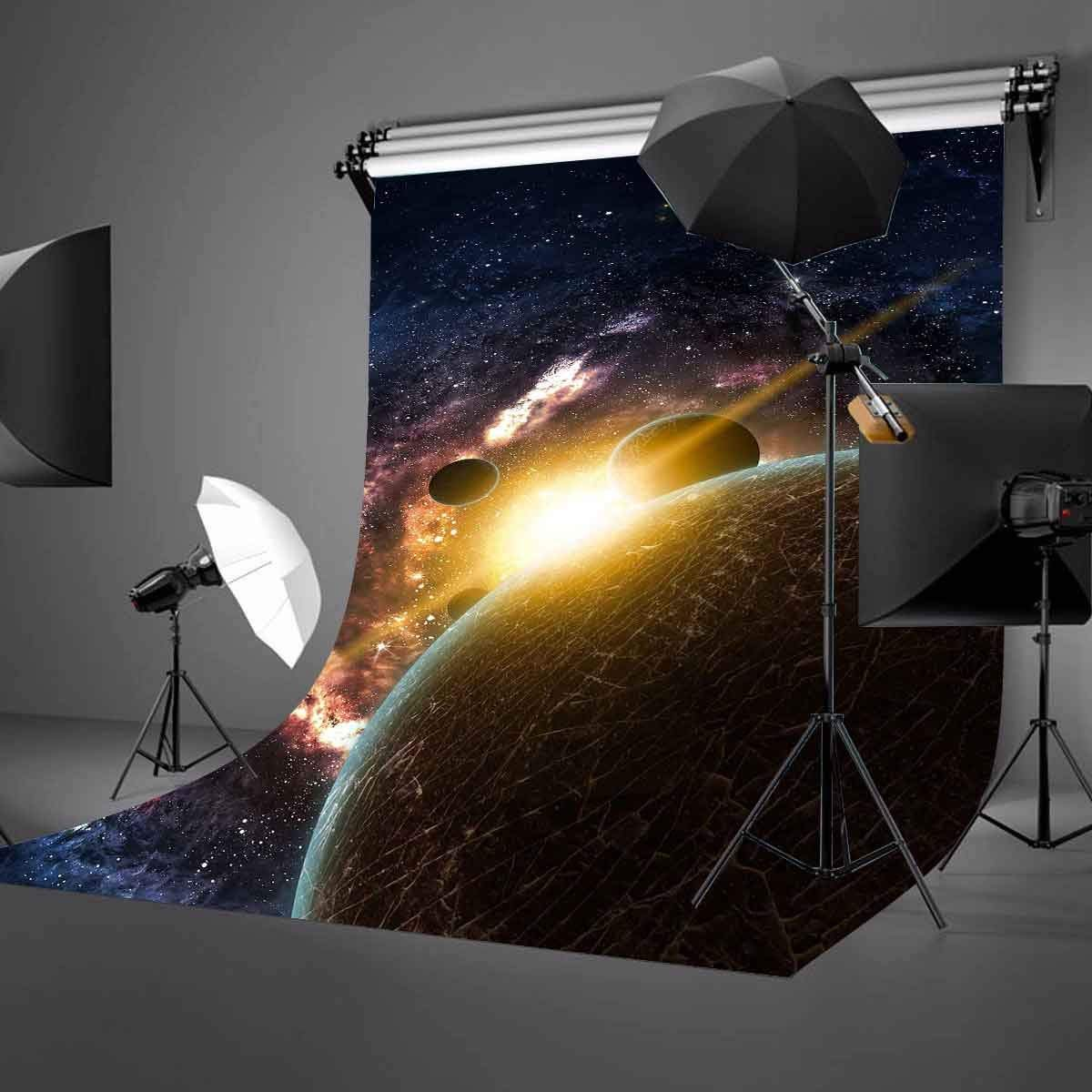 Image 2 - 5x7ft Starry Sky Backdrop Dark Color Cosmic Science Photography Background and Studio Photography Backdrop Props-in Photo Studio Accessories from Consumer Electronics